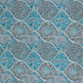 Bridlewood Paisley Teal RM Coco Fabric