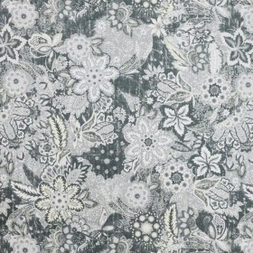 Hillwood Garden Pewter RM Coco Fabric