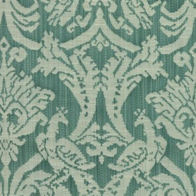 Delacroix Damask Peacock RM Coco Fabric