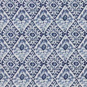 Akbar China Blue RM Coco Fabric