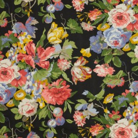 Grand Bouquet Licorice RM Coco Fabric