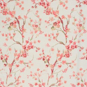 Spring Blossoms Coral RM Coco Fabric