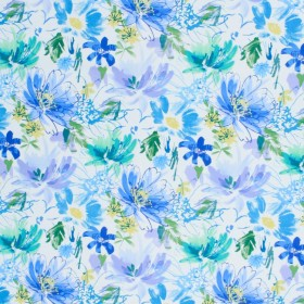 Floral Shower Cornflower RM Coco Fabric
