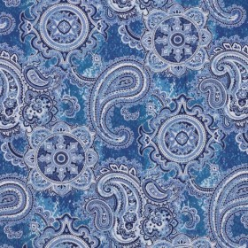 Pickwick Paisley Denim RM Coco Fabric