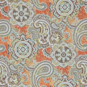 Pickwick Paisley Papaya RM Coco Fabric