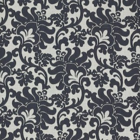 Wentworth Damask Black RM Coco Fabric