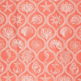 Beach Club IO Coral Red RM Coco Fabric
