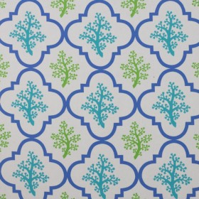 Coral Garden IO Turquoise RM Coco Fabric