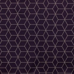 Boxed In Grape RM Coco Fabric