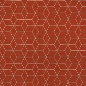 Boxed In Paprika RM Coco Fabric
