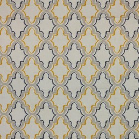 Constantinople Trellis Gold Rush RM Coco Fabric