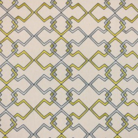 Interlock Trellis Citrine RM Coco Fabric