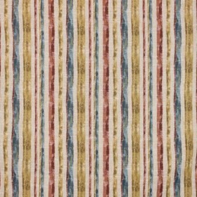 San Torini Stripe Tuscan Red RM Coco Fabric