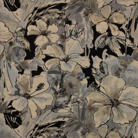 Floral Splash Charcoal RM Coco Fabric