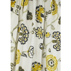 Ampersand Nutria Floral Fabric