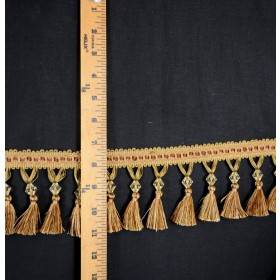 LH201 Gold Beaded Tassel Trim