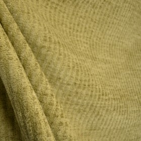 Khaki Green Chenille Texture Stripe Upholstery Fabric