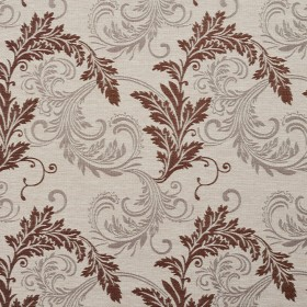 1668 Bisque Leaf Fabric by Charlotte Fabrics
