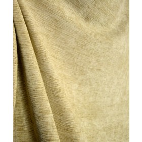 Textured Chenille Upholstery Fabric Cream Gold