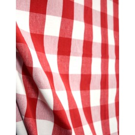 Lyme Berry White Red & White Check Fabric