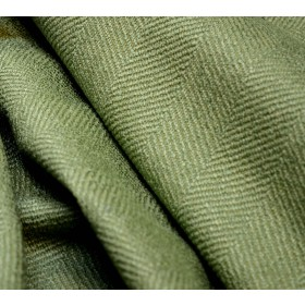 Green Herringbone Upholstery Fabric Jumper Aloe