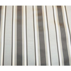 Swavelle Fabric Entrance Fog Grey Striped Curtain Fabric