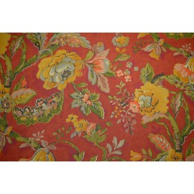 Red Floral Braemore Fabric