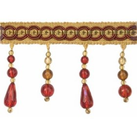 Magnificent Classic Bead Fringe   Pomegranate by Robert Allen
