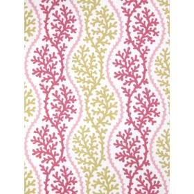 Dazzling Thetis Coral Pink Coral Fabric