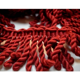 REMNANT Red Bullion Trim 3 Inches x 3.625 yards