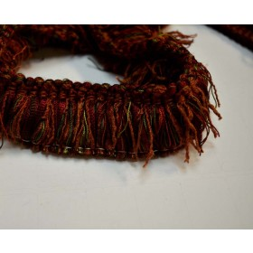 REMNANT Dark Red Brush Trim 1.5 Inches x 1.25 Yards