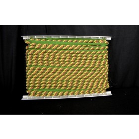 REMNANT Green Yellow Cord .325 Inches x 27 Yards