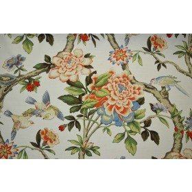 Mudan Persimmon Waverly Fabric