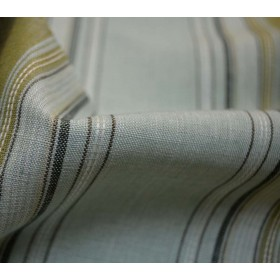 REMNANT Blue Linen Stripe Fabric 57 inches x 2.75 yards