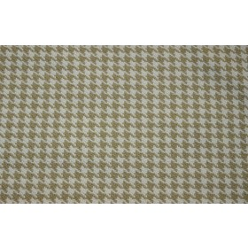 REMNANT Cream Houndstooth Fabric 54 inches x 2.5 yards