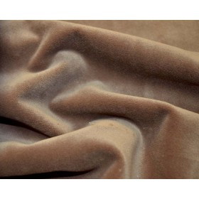 REMNANT Tan Velvet Fabric 23 inches x 6 yards