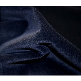 REMNANT Blue Velvet Fabric 55 inches x 1.5 yards