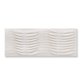 Dramatic Pleated Band   White by Robert Allen