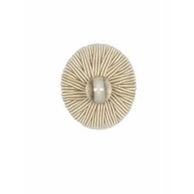 Magnificent Ribbed Button   Bone by Robert Allen