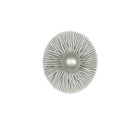 Charming Ribbed Button   Platinum by Robert Allen