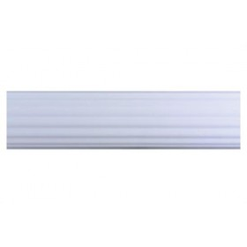 """2.25"""" White Reeded Wood Pole Select Drapery Hardware 4'"""