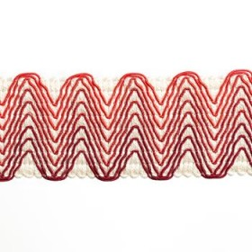 Striking Chevron Band | Lacquer Red by Robert Allen