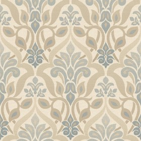 Fusion Blue Ombre Damask Wallpaper