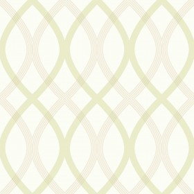 Contour Green Geometric Lattice Wallpaper