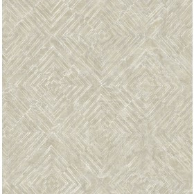 2540-24001 Labyrinth Platinum Geometric Wallpaper