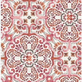 2540-24043 Florentine Pink Tile Wallpaper