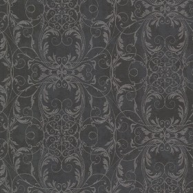 Tianna Charcoal Ironwork Scroll Wallpaper