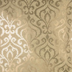 Venus Brass Foil Mini Damask Wallpaper