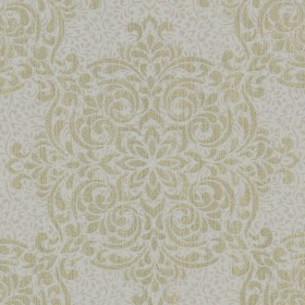 Gabrielle Gold Lace Feature Wallpaper