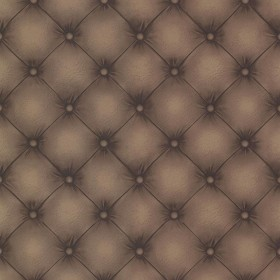 Chesterfield Chestnut Tufted Leather Wallpaper